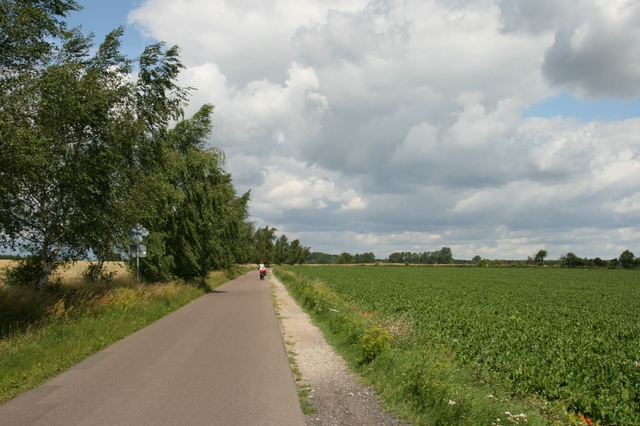 Radweg an der Landstraße