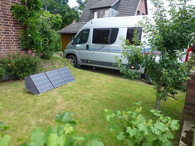 120Wp Solartasche mit MPPT Solarregler