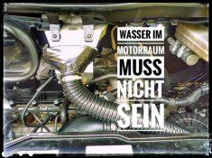 Wohnmobil Motorraum gegen Wasser abdichten